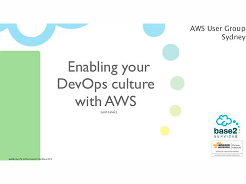 Enabling your dev-ops culture with aws